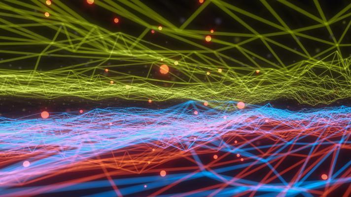 multicolored line contour graph