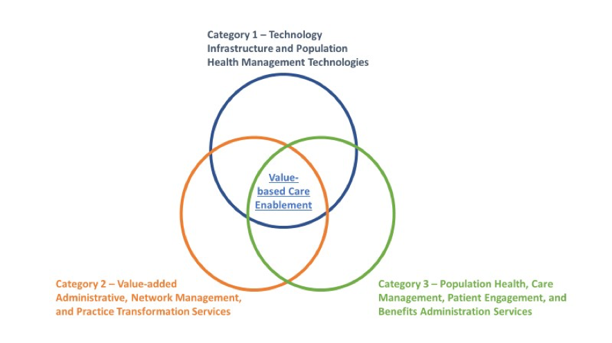 Figure 1: Value-based care enablement and management capability categories