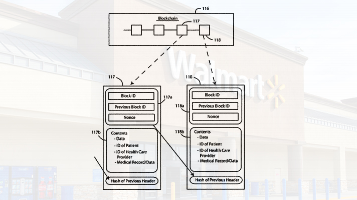 Walmart patent for blockchain, wearable, biometric scanner-based EHR system