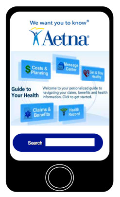 Aetna iPhone app mock-up