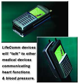 Old mock-up of LifeComm device