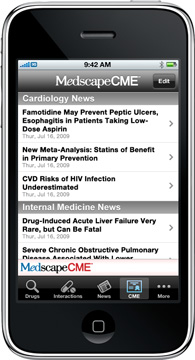 Medscape CME iPhone