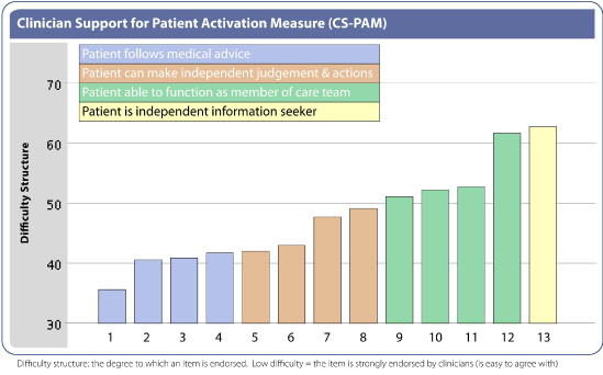 CSPAM score reveals a physician's position along a continuum of increasing support for patient activation