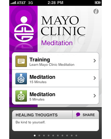 Mayo Clinic Mediation App