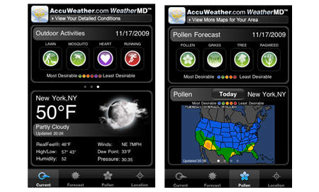 AccuWeather WeatherMD iPhone App