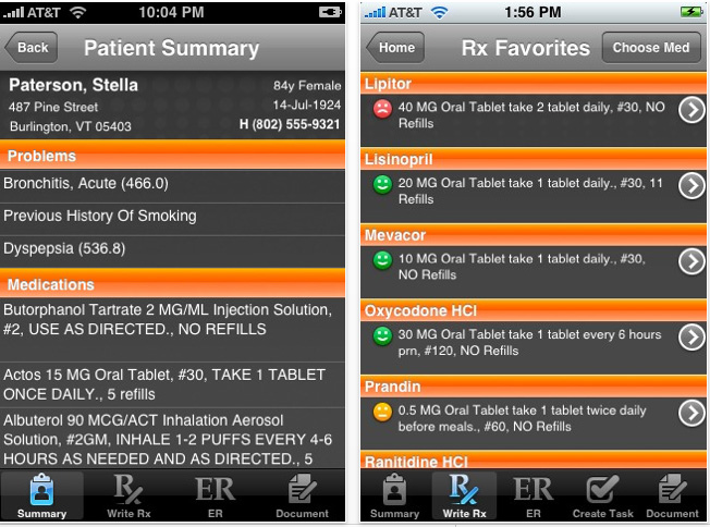Allscripts Remote Access iPhone app