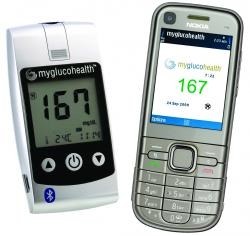 Entra Health Systems MyGlucoHealth Wireless meter Nokia