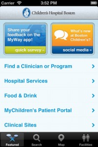 Boston Children's Hospital MyWay app