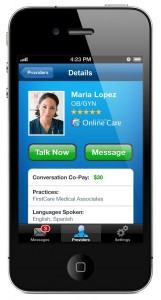 Online Care Mobile App for Consumers (iPhone)