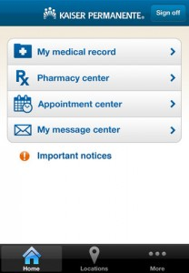 Kaiser Permanente iPhone App