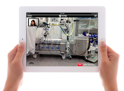 Nurep medical device iPad support