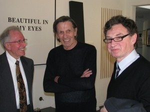 Scanadu CEO Walter De Brouwer (right) and Star Trek's Leonard Nimoy (center)