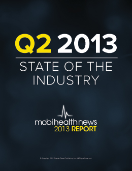 State of the Industry: Mobile Health Q2 2013