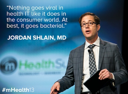 Dr. Jordan Shlain on-stage at the mHealth Summit (image source: mHealth Summit team)