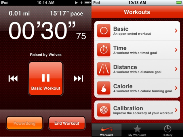 nike iPod Touch app