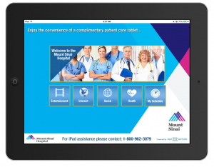 Mount Sinai- Patient iPads - Home Screen