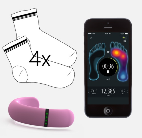 Sensoria's original smart sock product.