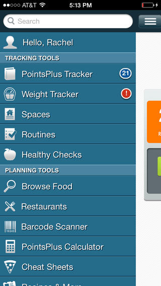 PointsPlus Weight Watchers app