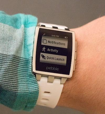 Pebble Smartwatch activity tracking