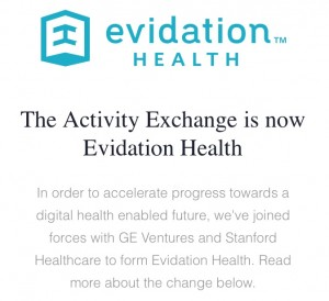 The Activity Exchange Evidation Health