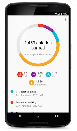 Google Fit update