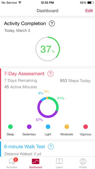 MyHeart Counts, an app based on AHA guidelines.