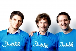Stanislas Niox-Chateau, Ivan Schneider and Jessy Bernal, the founders of DoctoLib.